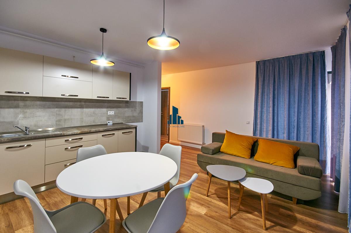 Apartament 2 camere, mobilat, utilat, bloc nou 2019, CF, Buna Ziua