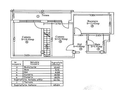 Apartament 3 camere Decomandat, S-94 mp, Borhanci