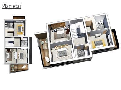 Casa de tip Duplex, S280mp, teren 775 mp aferent casei, Panorama.