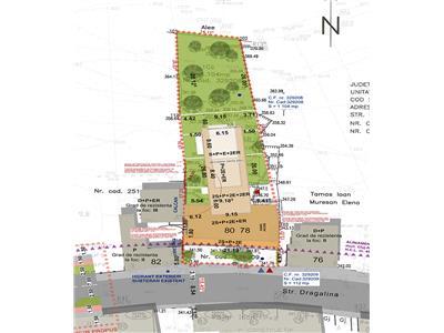 Teren + Proiect imobiliar 2S+P+2E+ER, str. Dragalina, zona Centrala