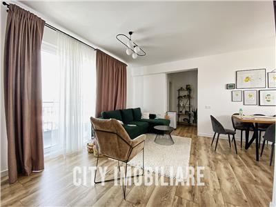 Apartament 3 camere cu 2 bai, S-83 mp +2 balcoane, 2 parcari, bloc nou